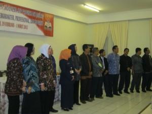 Para Kepala SMP Negeri Berlatar Belakang Mapel Bahasa Indonesia yang Hadir pada Muker MGMP Tahun 2012