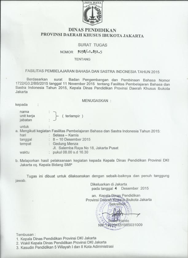 45+ Contoh surat dinas pendidikan provinsi dki jakarta terbaru terbaik